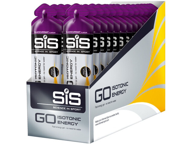 SiS GO Isotonic Energy Gel Box 30x60ml Blackcurrant